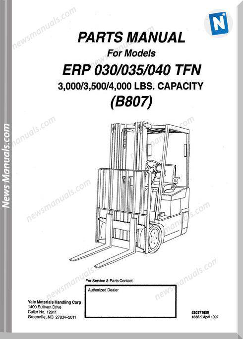 2f52cc1c03d ... Array - yale forklift erp 030 035 040 tfn b807 parts manual rh  newsmanuals ...
