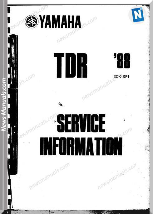 Yamaha Tdr 250 Service Manual 1988