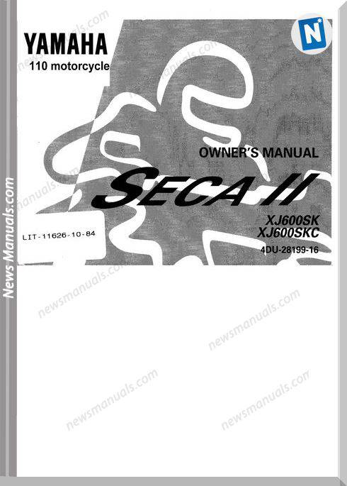 Yamaha Xj600Sk Owners Manual