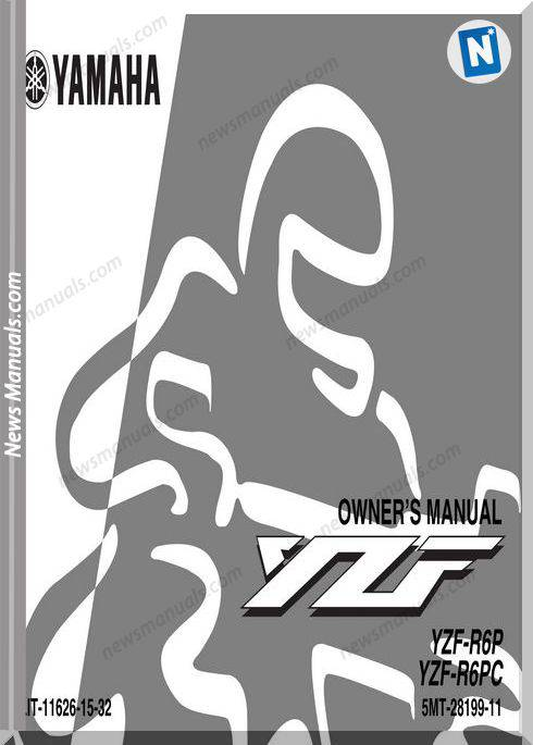 Yamaha Yzf R6P R6Pc Owners Manual