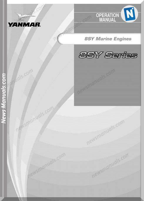 Yanmar 8Sy Series Marine Engine Operation Manual