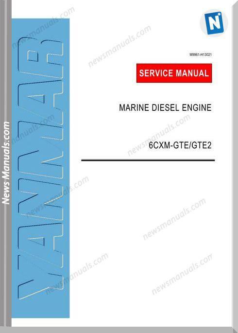 Yanmar Marine 6Cxm-Gtegte2 Service Manual