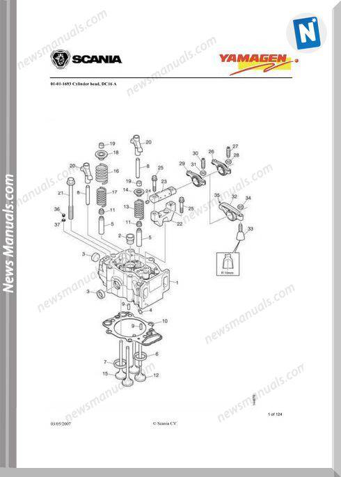 Yanmar Ys Dc16 Engine 500 Kva Wpy500 Parts Catalog