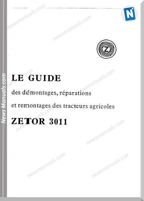 Zetor 3011 Guide Montage Reparation