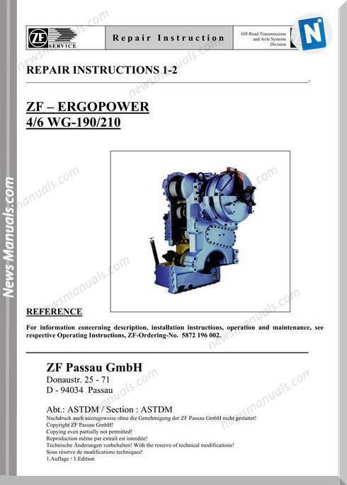 Zf 4 6 190 210 E Repair Manual