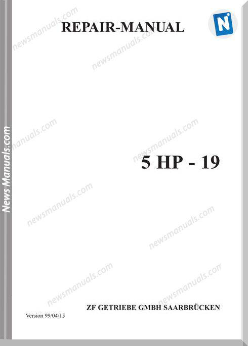 Zf 5Hp19E Repair Manual