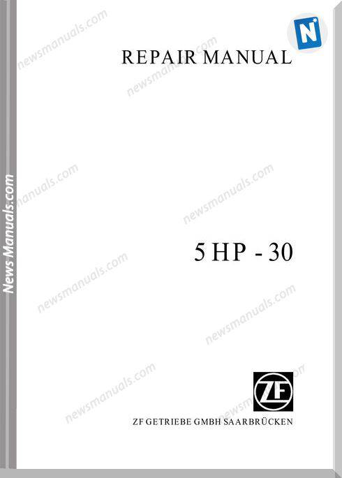 Zf 5Hp30E Repair Manual