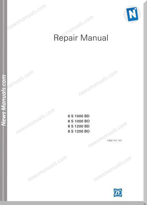 Zf 6S1000 1200Bo Bd Repair Manual