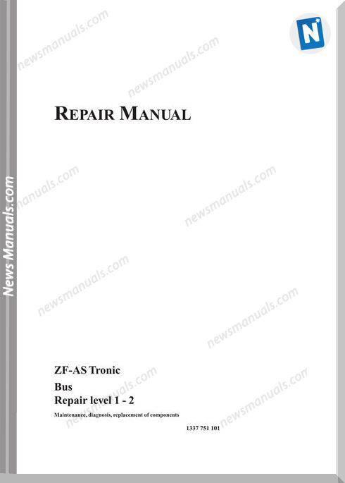 Zf Astronic Bus 1337 751 101 2003 Repair Manual