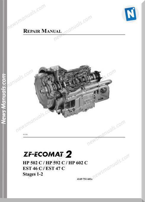 Zf-Ecomat2 Hp502,592,602C Est46,47C Repair Manual