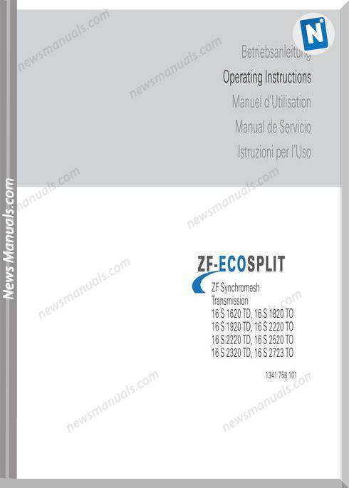 Zf Ecosplit 1341 758 101 Operating Instructions