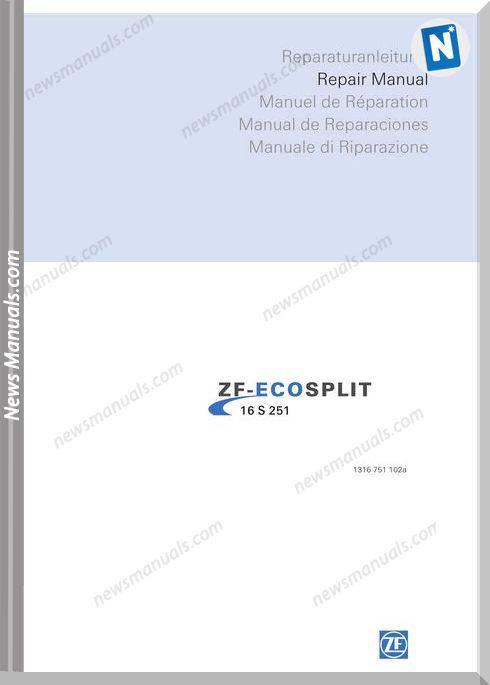 Zf Ecosplit 16S251-1316 751 102 A 2007 Repair Manual