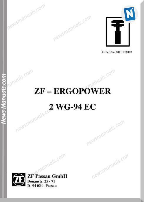 Zf Ergopwer 2 Wg 94 E Repair Manual