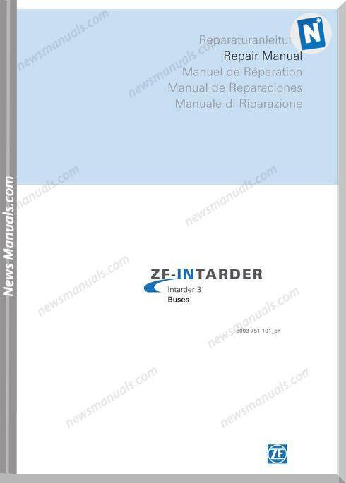Zf Intarder 3 Buses Repair Manual