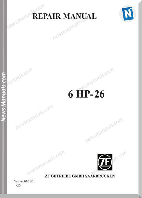 Zf Repair Manual 6Hp 26 Transmissions