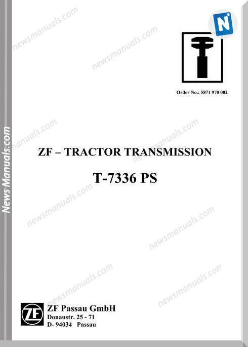 Zf Transmission T 7336 Ps Workshop Manual